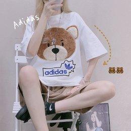 图3_Adidas 三叶草20ss夏季新款小熊刺绣短袖T恤采用200克纯棉面料 胸前为摇粒绒贴布刺绣 超级好看的一款白色百搭款 男女同款尺码 M XL M L XL胸围106 110 114衣长 69 71 73