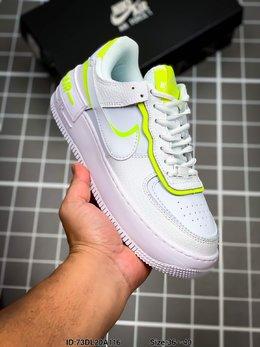 图2_耐克 Nike Air Force 1 Shadow 空军一号马卡龙超轻低帮运动休闲板鞋 ID 73DL20A116 Size 36 40