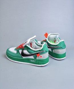 图2_终端放店OFF WHITE x Nike Air Force 1 OW联名空军一号 DIY配色 韩国进口网纱 鞋款延续了此次联名的设计风格 鞋身内侧同样印有大面积标语 奶白色水晶中底点缀醒目的 AIR 字样 保障了鞋款极高的辨识度 货号 AO4606GJ尺码 40 40 5 41 42 42 5 43 44 44 5 45