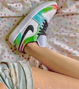 图1_耐克 Nike Air Jordan 1 Low Multicolor 星云 AJ1 乔1 低帮潮流缓震运动休闲板鞋 官方货号 CW0 909