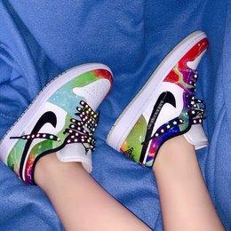 图2_耐克 Nike Air Jordan 1 Low Multicolor 星云 AJ1 乔1 低帮潮流缓震运动休闲板鞋 官方货号 CW0 909