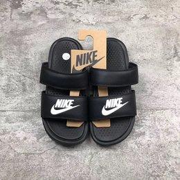 图1_Nike Benassi Duo Ultra 耐克忍者 黑白拖鞋819717 010 官方原厂订单 几率可过验 原盒激光标 配件吊牌全 尺码 35 5 36 5 38 40 5 42 43 44