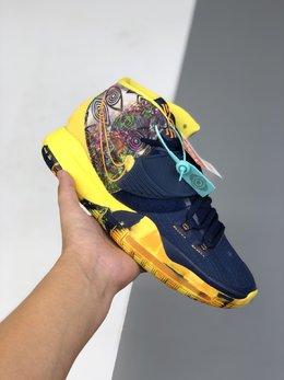 图1_图一图二36 46其他40 46公司级 Nike Kyrie 6欧文六代 实战篮球鞋 鞋面由一体网布打造 内置气垫 脚背处加入捕蝇草式补强设计 带来额外包裹性 鞋面的 Swoosh Logo 角度上扬 相比常规的设计更加用心 后跟带有全视之眼压纹 个性又神秘 货号 CQ7634 601码数 40 40 5 41 42 42 5 43 44 45 46 q6