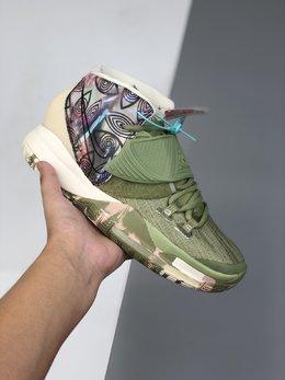 图2_图一图二36 46其他40 46公司级 Nike Kyrie 6欧文六代 实战篮球鞋 鞋面由一体网布打造 内置气垫 脚背处加入捕蝇草式补强设计 带来额外包裹性 鞋面的 Swoosh Logo 角度上扬 相比常规的设计更加用心 后跟带有全视之眼压纹 个性又神秘 货号 CQ7634 601码数 40 40 5 41 42 42 5 43 44 45 46 q6