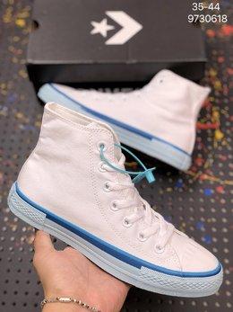 图1_CONVERSE匡威 新ALL STAR 彩虹底蓝色白色高帮帆布鞋 568805C 货号 9730618