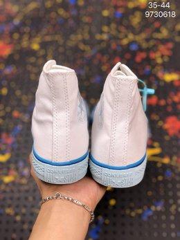 图2_CONVERSE匡威 新ALL STAR 彩虹底蓝色白色高帮帆布鞋 568805C 货号 9730618