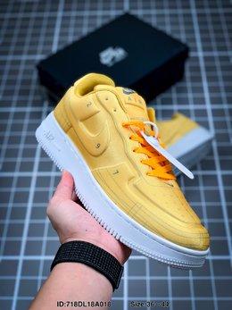 图1_耐克Nike Air Force 1 AF1数字手稿 白红激光橙 解构 运动鞋ID 718DL18A018 Size 36 44