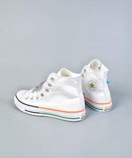 图2_终端放店终于来了 小红书爆款 Converse all star 鞋底拼接 搭配白色简约的鞋面 给你带来不一样的夏季小白鞋 颜色超级温柔 百搭神器 size 35 44 36 5 37 5 39 5 41 5 42 5