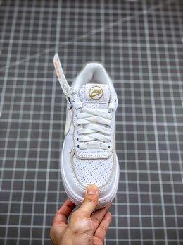 图2_终端放店Air Force 1 Shadow 灰白拼接轻量增高低帮百搭板鞋