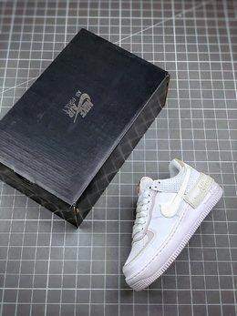 图3_终端放店Air Force 1 Shadow 灰白拼接轻量增高低帮百搭板鞋