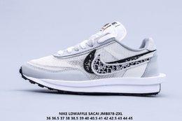 图1_新配色 Nike Ldwaffle Sacai 耐克 华夫 Dior 双勾标 网面透气 舒适脚感 抗磨底 复古休闲百搭跑步鞋JMB878 ZXL