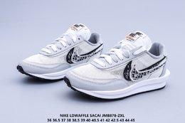 图2_新配色 Nike Ldwaffle Sacai 耐克 华夫 Dior 双勾标 网面透气 舒适脚感 抗磨底 复古休闲百搭跑步鞋JMB878 ZXL
