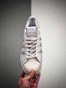 图2_阿迪达斯adidas三叶草 Originals Superstar Superstar50周年多彩 贝壳头经典百搭休闲运动板鞋 贝壳头 白水泥尺码配色 后跟采用特色3D立体印字鞋身全部采用贝利 官方指定皮材独家 原数据 50周年最新大底模具独家原数据鞋垫定型模具 货号 FY0038尺码 36 36 37 38 38 39 40 40 41 42 42 43 44