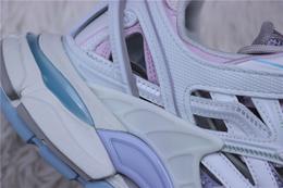 图3_纯原版 巴黎世家老爹鞋系列 巴黎世家 Balenciaga 巴黎世家4 0老爹鞋 浅紫粉淡蓝白货号 568615 W2GN3 9045