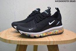 图1_耐克 NIKE AIR MAX270 REACT彩虹颗粒气垫跑步鞋运动鞋 size 如图K412K0610731