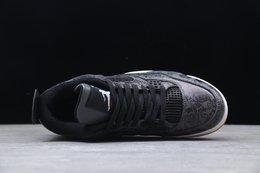 图3_公司级 Air Jordan 4 AJ4 乔4 头层皮复刻版本 原鞋开发 原厂独立模具开发 正确鞋型 原厂定制头层磨砂皮料 正确侧边tpu材料卡色 正确鞋舌立体高频 渠道正品网格大小 内置原厂气垫 后置立体LOGO可随意对比正品细节 Size 36 36 5 37 5 38 38 5 39 40 40 5 41 42 42 5 43 44 44 5 45 46