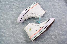图3_终于来了 小红书爆款 Converse All Star 鞋底拼接 搭配白色简约的鞋面 采用双拼设计 给你带来不一样的夏季小白鞋 颜色超级温柔 百搭神器 Size 35 44 36 5 37 5 39 5 41 5 42 5