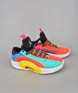 图1_终端放店公司级Air Jordan Jordan XXXV AJ35代 镂空缓震实战运动篮球鞋 新品首发 AJ 最新正代来了 原装实战版本超大面积前后真实ZOOM加持 这款鞋采用隐身的防撕裂基础结构和衣领覆盖层进行了类似的设计 出现了新的颜色在鞋子上 鞋跟品牌 鞋带和鞋绳等区域都用了黑色来进行点缀 官方货号 DJ2831H8SIZE 40 40 5 41 42 42 5 43 44 44 5 45 46