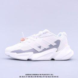 图3_公司级 阿迪达斯adidas Boost X9000L4 W系列款式整体造型极具速度感 与 adidas ZX 系列相似的硬挺廓形 鞋面以织面材质 搭配热固橡胶装饰 三角形贴面让鞋身呈现出满满的科技感与力量感 中底以夸张的前后掌厚度差呈现 锯齿状廓形 后跟向外大幅延伸 设计非常拉风 另外 这双鞋的外底花纹构成也非常独特 致密的小方格纹深浅不一 前掌外沿还配有特殊处理的稳固模块 搭配 Boost 中底材质 估计脚感应该也会不错PUAE1011 XLL