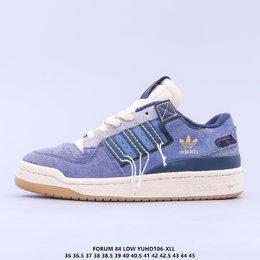 图1_调价 公司级 原楦开发版型 带芯片阿迪达斯 Adidas Forum 84 Low OG Bright Blue 低帮百搭潮流休闲运动板鞋 以复古篮球鞋的外形为基础 采用皮革拼接 简约百搭 更加贴合舒适 中底内侧网格造型起到点睛之笔 外底橡胶 更显复古YUHD106 XLL货号 GW0298