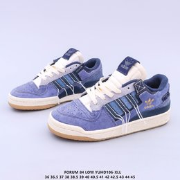 图2_调价 公司级 原楦开发版型 带芯片阿迪达斯 Adidas Forum 84 Low OG Bright Blue 低帮百搭潮流休闲运动板鞋 以复古篮球鞋的外形为基础 采用皮革拼接 简约百搭 更加贴合舒适 中底内侧网格造型起到点睛之笔 外底橡胶 更显复古YUHD106 XLL货号 GW0298