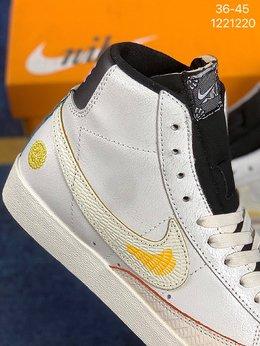 图2_真标 带半码 Nike Blazer Mid Retro OG 开拓者经典复古中帮休闲板鞋 颇具辨识度的Nike Blazer Mid 将于今年回归登场 Swoosh配色填充 鞋款简约大气经典再现 货号 BQ6806 102尺码 36 36 5 37 5 38 38 5 39 40 40 5 41 42 42 5 43 44 45 编码 1221220