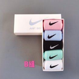 图2_耐克Nike 彩色中筒礼盒 5双一盒 今年最流行色彩 马卡龙 糖果 精梳棉中筒袜 A组 B组 C组