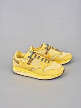 图1_终端放店耐克 NIKE 耐克Max 1 跑鞋 柠檬黄Travis Scott x Nike Air Max 1