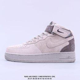 图1_头层皮 原楦开发纸版楦型 台产丝光猪巴革材质鞋面 全新升级市面最为正确中底 Nike Air Force 1 High PRM 空军一号高帮经典休闲运动板鞋RYNI1012 ZNL