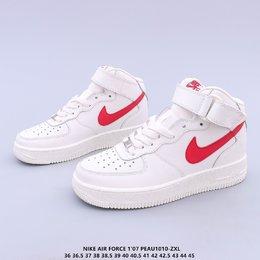 图2_内置全掌air sole气垫中底缓震 人脚必备单品 OG万年经典配色 耐克Nike Air Force 1 Mid 07 GS