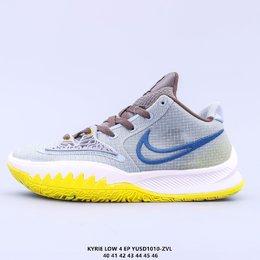 图2_真标 耐克Nike Kyrie 4 Low EP 欧文战靴耐克Nike Kyrie 4 Low Ep 欧文4篮球鞋 全明星 全鞋身原档案刺绣细节精准还原 后跟内置原厂MD缓震中底 搭载原装真Zoom turbo 气垫 YUSD1010 ZVL货号 CZ0105 001 尺码 40 46