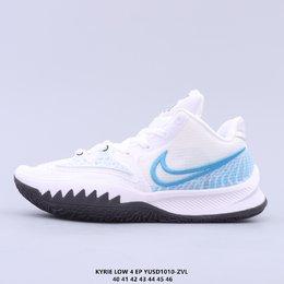 图3_真标 耐克Nike Kyrie 4 Low EP 欧文战靴耐克Nike Kyrie 4 Low Ep 欧文4篮球鞋 全明星 全鞋身原档案刺绣细节精准还原 后跟内置原厂MD缓震中底 搭载原装真Zoom turbo 气垫 YUSD1010 ZVL货号 CZ0105 001 尺码 40 46